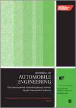 Proceedings of the Institution of Mechanical Engineers, Part D: Journal of Automobile Engineering