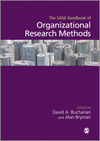 The SAGE Handbook of Organizational Research Methods